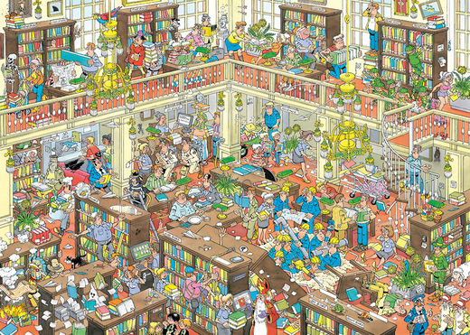 19092 JVH The Library 1000pcs