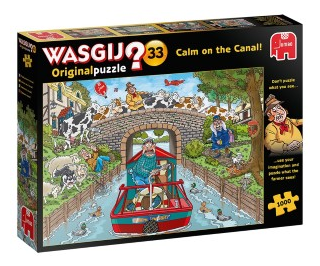 Wasgij Original 33 Calm on the canal, 1000 palaa